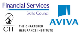 Client logos - Financial Service Skills Council, CII, Aviva Norwich Union